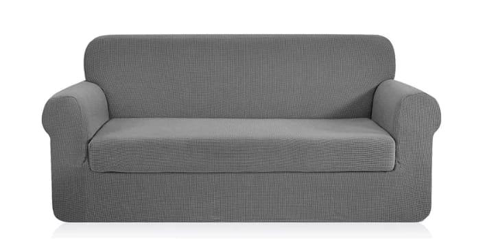 Chun YI 2- piece jacquard polyester spandex slipcover sofa