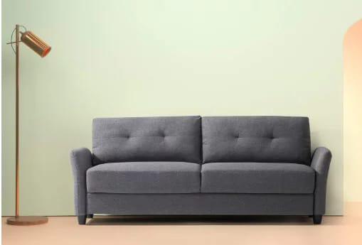 """Zinus ricardo contemporary fabric 78.4"""" sofa"""