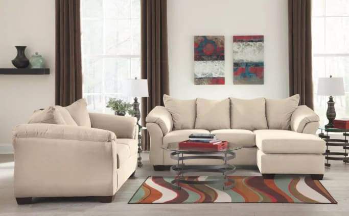 Ashley Furniture Signature Design- Darcy Contemporary Microfiber Sofa