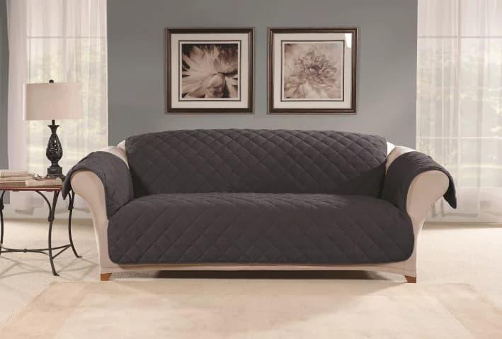 SureFit Microfleece Sofa Pet Furniture Cover