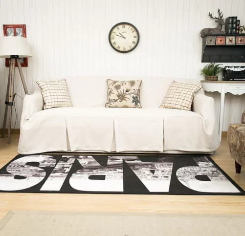 KARUILU Home 1 Piece Heavy Weight Fabric Sofa Cover