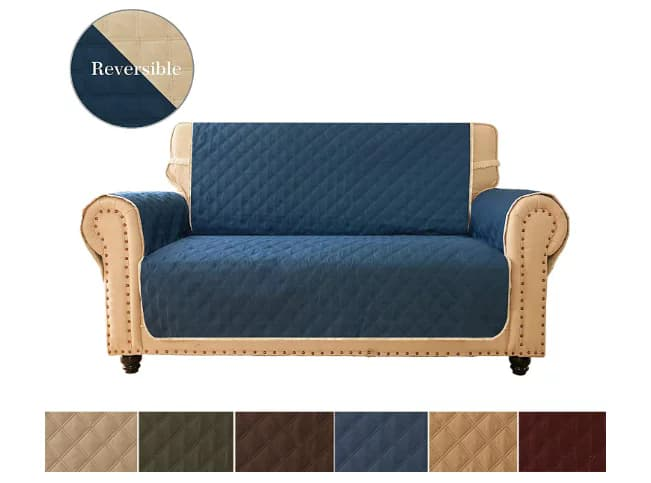 Ameritex Reversible Quilted Furniture Slipcover