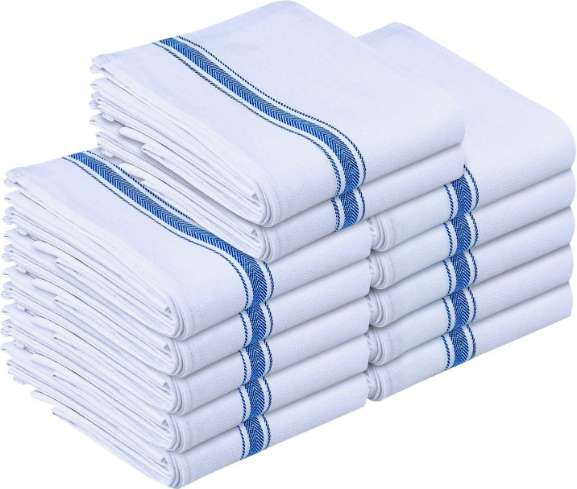 Utopia kitchen towels, 12 pieces and tea towels