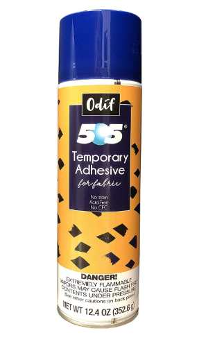 Odif USA 505 spray and fix pemporary fabric adhesive
