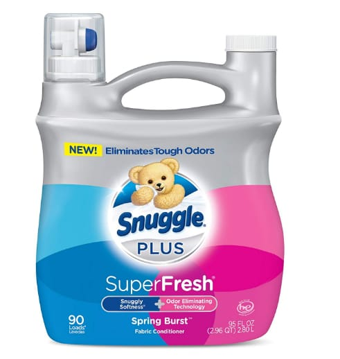 Snuggle Plus Super Fresh Liquid Fabric Softener.