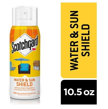 Scotchgard water and sun screen