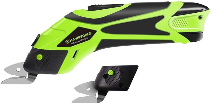 Hawkforce 4V Li-Ion rechargeable battery cordless Power Scissors