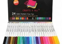 Crafts 4 all, 24 permanent fabric markers