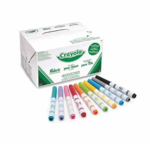 Crayola 588215 Class-Pack Fabric Markers
