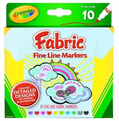 Crayola Fine Line Fabric Markers Pens