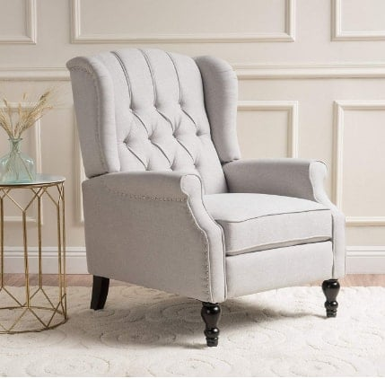 Christopher Knight Home Elizabeth Tufted, Fabric Arm Chair Recliner