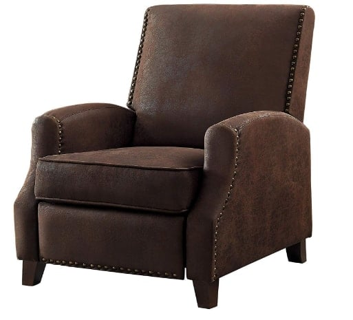 Homelegance Walden Push Back Brown Fabric Recliner