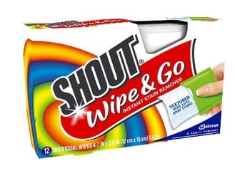 Shout Wipes Portable Stain Treater