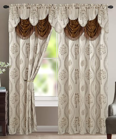 Elegant Comfort Luxurious Beautiful Living Room Curtain set