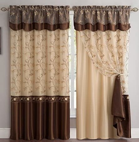 Fancy Collection Embroidery Curtain- Best overall
