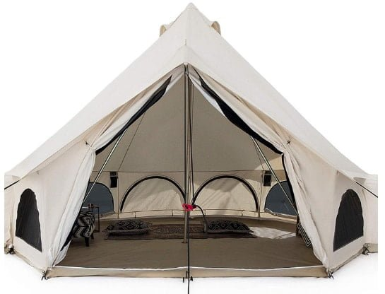 White Duck Premium Luxury Canvas Bell Tent with Stove Jack
