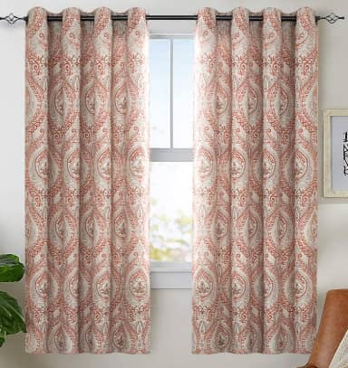jinchan Vintage Linen Curtains for Living Room