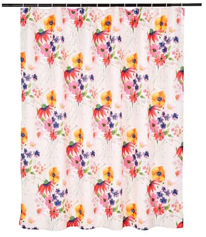 AmazonBasics Blossom 72-Inch Bathroom Shower Curtain