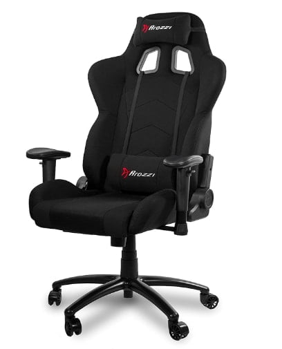 Arozzi Inizio Ergonomic Fabric Black color Gaming Chair with High Back