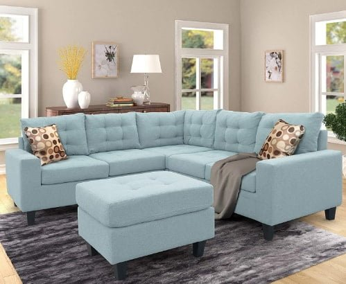 Harper & Bright Designs Sectional Sofa with Ottoman