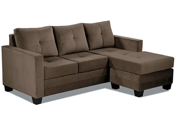 Homelegance Phelps 78x58 Inches Microfiber Brown Color Sofa