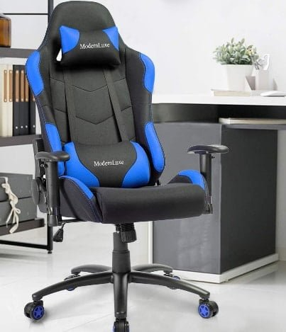 Merax Ergonomic Gaming Chair, Black/Blue