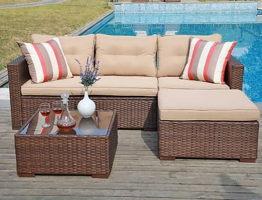 SUNSITT Outdoor Patio Sectional Sofa
