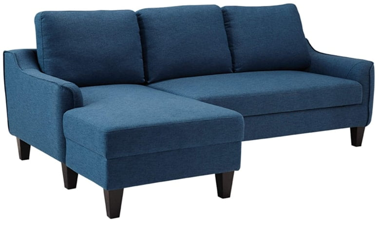 Signature Design By Ashley - Blue Upholstered Sectional Sofa