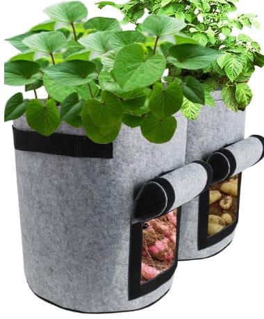 TQQFUN 7 Gallon  2 Pack Smart Potato Bags