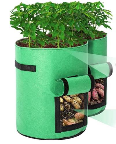 Tvird Potato Grow Bags 2 Pack 10 Gallon Fabric Pots For Potatoes