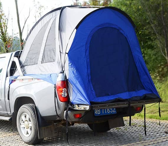 Hasika Waterproof Double Layer Full-Size Truck 5.5 Foot Bed Tent With Floor