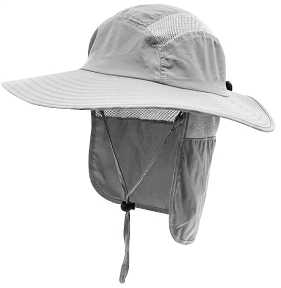 Home Prefer Men's UPF 50+ Sun Protection Cap For Fishing With Neck Flap