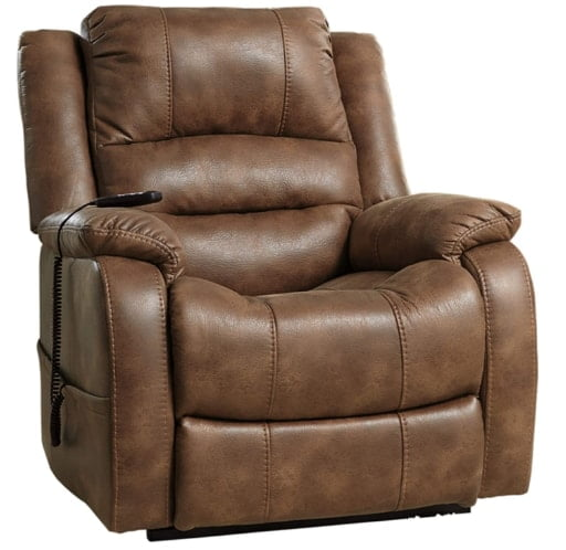 Signature Design by Ashley Yandel Power Lift Big Man Oversized Recliner