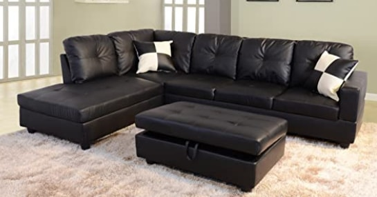 Beverly Fine-Furniture Sectional Sofa Set