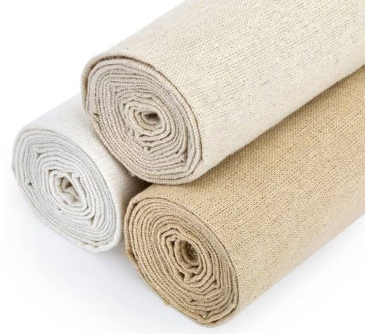 Caydo 3 Pieces Large Size Linen Needlework Fabric