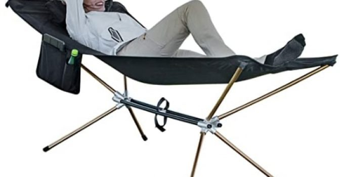 KingCamp Portable Folding Camping Hammock Bed Cot With Pocket & With Aluminum Stand
