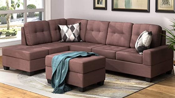 Merax Sectional Sofa With ottoman and chaise