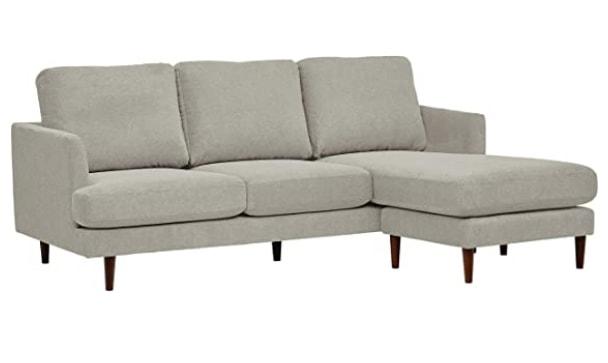 Rivet-Goodwin Modern-Sectional Light-Gray