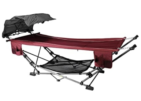 ZENITHEN LIMITED Folding Hammock With A Retractable Canopy