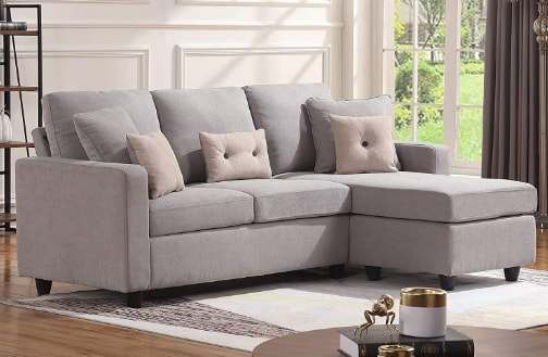HONBAY Convertible Sectional Sofa Couch For Small Space
