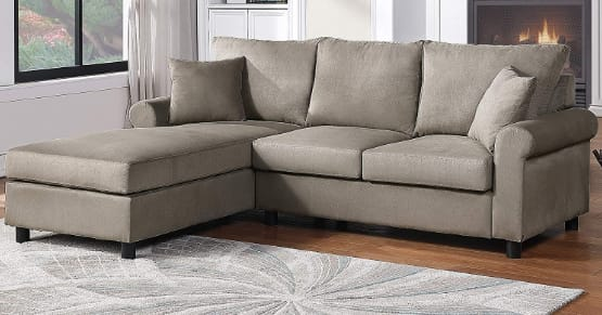 Modern Upholstered Sectional Sofa Couch, L-Shape Couch For Small Space, Apartment, Living Room