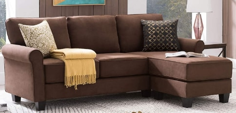 Nolany Reversible Sectional Sofa Couch for Small Apartment