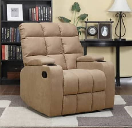 Mainstay Wall Hugger Brown Microfiber Wall Away Recliner