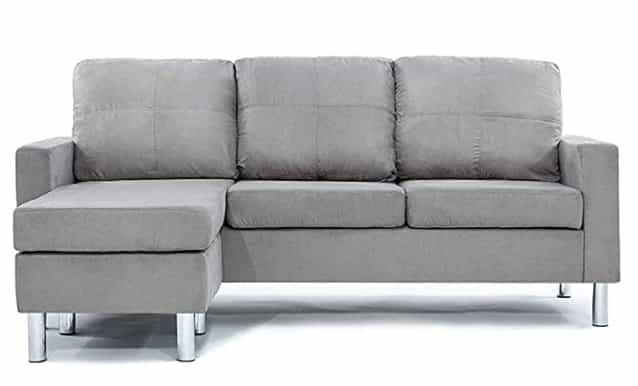 Divano Roma Furniture Modern Grey Sectional