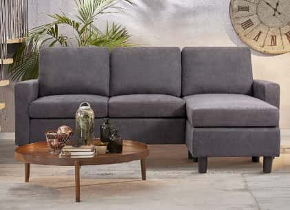 JY QAQA Convertible Sectional Sofa Couch with Reversible Chaise, L-Shaped Ottoman Couch
