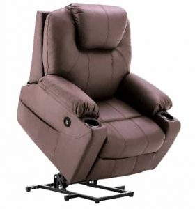Mcombo Electric Power Lift Recliner with Pockets and Cup Holders