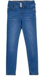 DKNY Girls' Jeans - 5 Pocket Button Fly Stretch Denim Jeans
