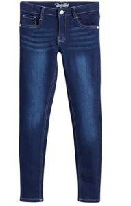Real Love Girls' 5 Pocket Vintage Denim Skinny Jeans